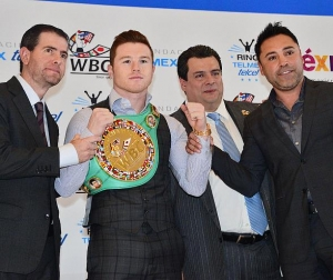 Canelo Alvarez Presented with WBC Middleweight World Championship Belt