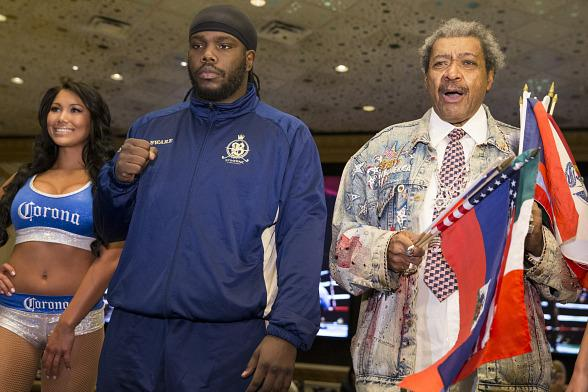 Bermane Stiverne, Deontay Wilder, Promoter Don King and