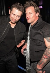 "WWE Superstars Chris Jericho and Michael ""The Miz"" Mizanin party at Hard Rock Hotel & Casino"
