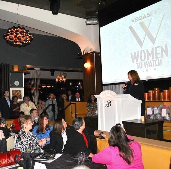 Terrie D'Antonio speaks at VEGAS INC's Women to Watch