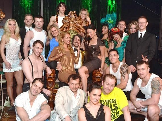Spartacus: Vengeance stars Katrina Law,  Bonnie Sveen and Ellen Hollman with cast of ABSINTHE