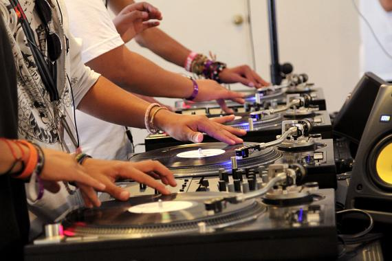 Tweens and Teens learn to spin at Camp Spin-Off, founded by Marquee Nightclub DJ Tina T