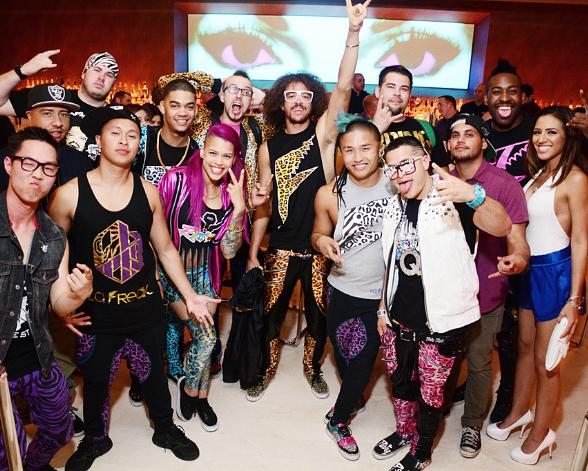 Redfoo and crew at Andrea's