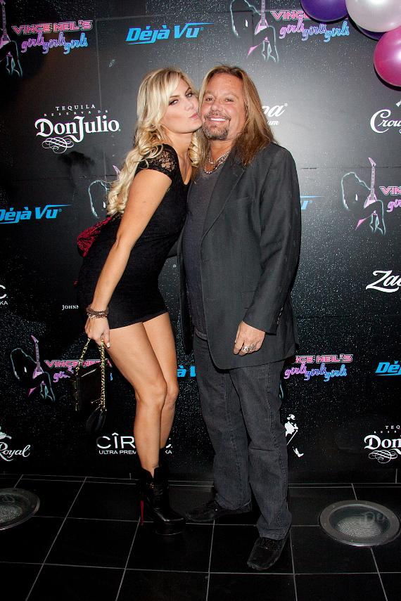 Vince Neil and Rain Andreani at Vince Neil's Girls, Girls, Girls