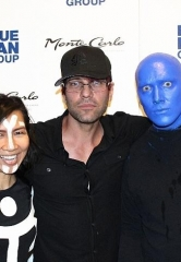 Criss Angel at Blue Man Group Las Vegas inside Monte Carlo Resort and Casino