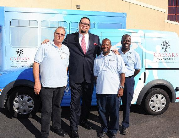 Penn Jillette with Opportunity Village drivers