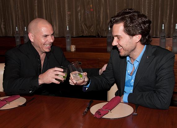 Pitbull and Scott Sartiano at 1 OAK Nightclub at The Mirage