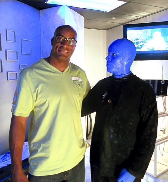 Andre Carter Attends Blue Man Group Las Vegas
