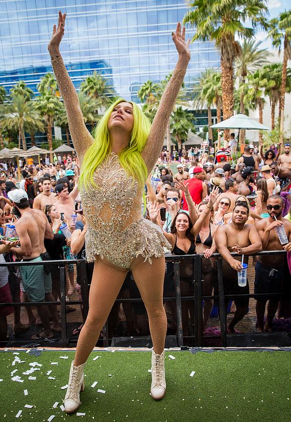 Kesha performs at REHAB