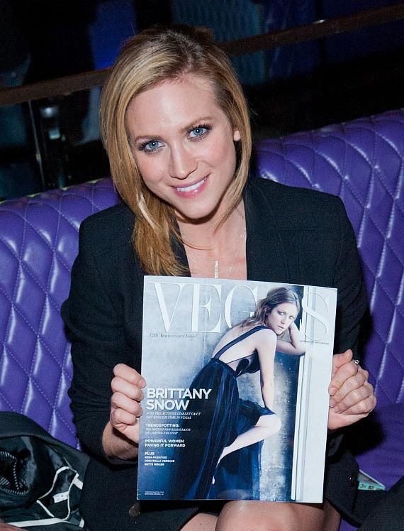 Vegas Magazine Celebrates 12th Anniversary with Brittany Snow at Omnia Nightclub