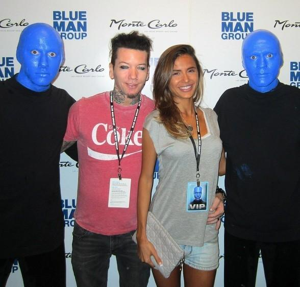 DJ Ashba of Guns N' Roses Attends Blue Man Group at Monte  Carlo Resort and Casino