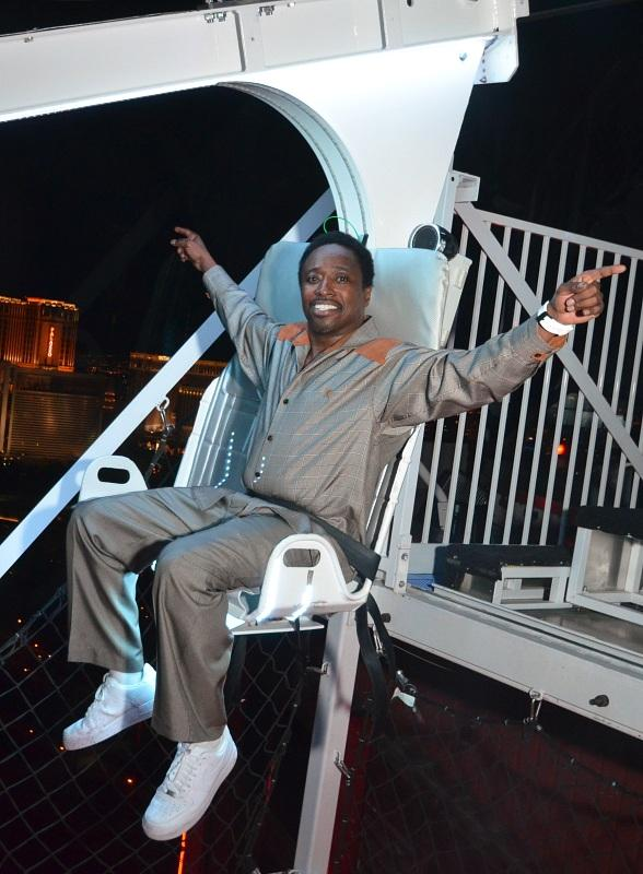 Comedian Eddie Griffin Rides the VooDoo Zip Line at Rio Las Vegas