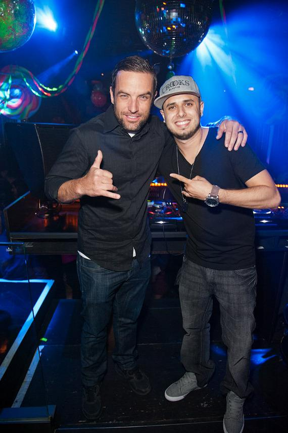 T.J. Lavin and DJ KoKo at Body English Nightclub at Hard Rock Hotel Las Vegas