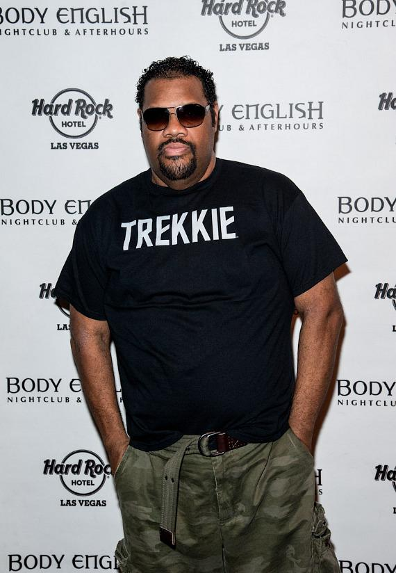 Fatman Scoop arrives at Body English at Hard Rock Hotel Las Vegas