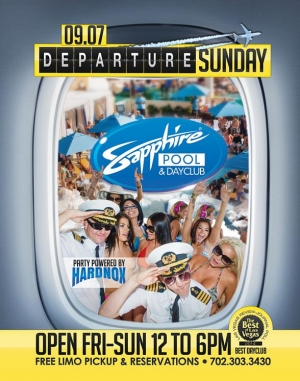 "Sapphire Pool & Day Club to Host ""Departure Sunday"" with Music by HardNox Sept. 7"