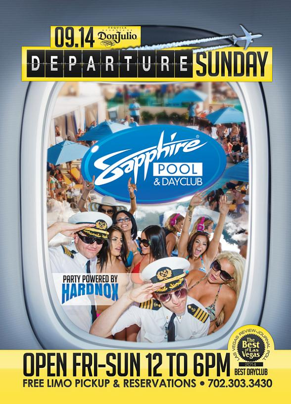 "Sapphire Pool & Day Club to Host ""Departure Sunday"" with Music by HardNox Sept. 14"