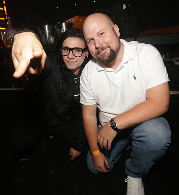 Skrillex and Markus Notch Persson at XS