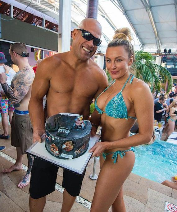 Tito Ortiz and Amber Nichole Miller at Marquee Dayclub Dome