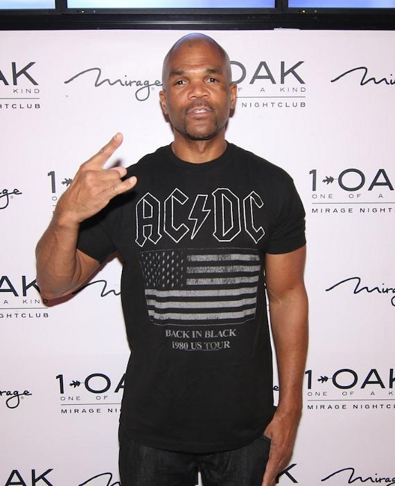 DMC of Run-DMC on the red carpet at 1 OAK Nightclub at The Mirage