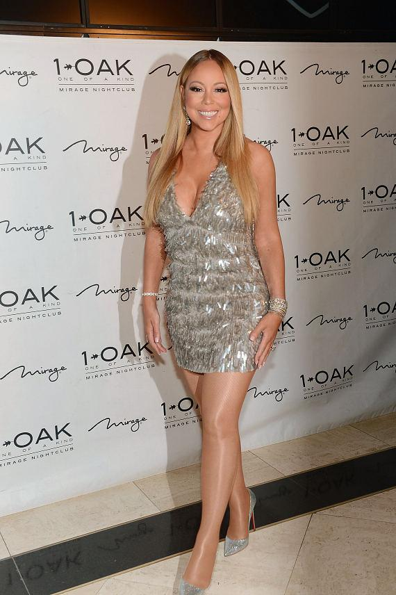 Mariah Carey celebrates her 'Mariah #1 to Infinity' wrap party at 1 OAK Nightclub at The Mirage Hotel & Casino on February 20, 2016 in Las Vegas