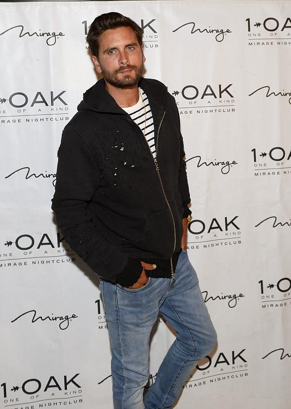 Scott Disick arrives at 1 OAK Nightclub
