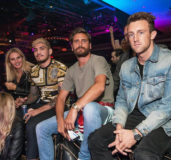 Scott Disick and friends at 1 OAK Nightclub
