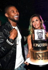 Usher Celebrates Album Release Party with Ludacris, Lil Jon, Lea Michele, Wilmer Valderrama at 1 OAK Las Vegas