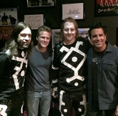 Rich Redmond and Jon Hull Visit Blue Man Group in Monte Carlo Resort & Casino in Las Vegas