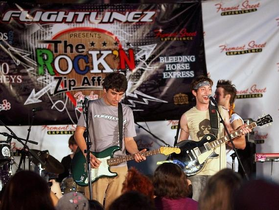 Twilight Star Jackson Rathbone and 100 Monkeys help raise money for charity at Flightlinez