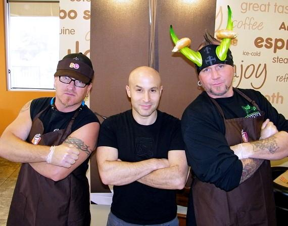 """Seth Grabel with """"Counting Cars"""" stars Roli and Horny Mike"""