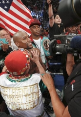 Vince Neil, Luke Wilson, Metta World Peace, Justin Bieber, Katie Leclerc, Bow Wow, Nick Cannon and more celebs at Mayweather vs. Berto at MGM Grand