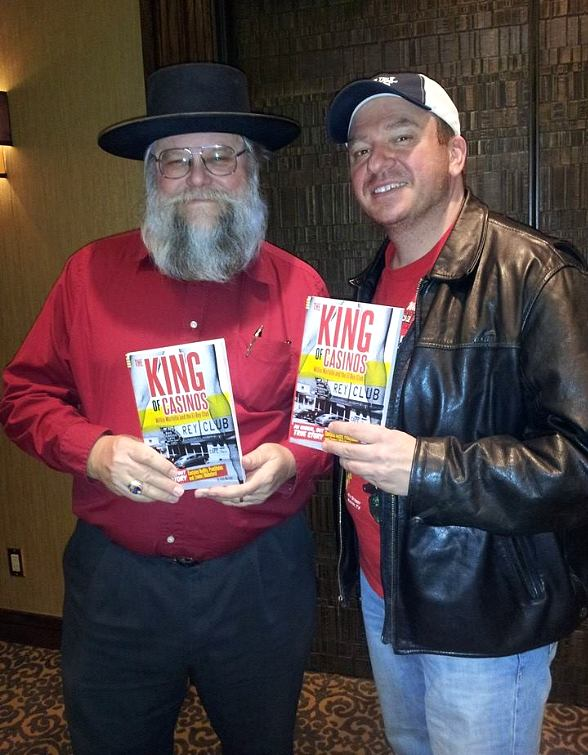 "Pawn Stars history expert Mark Hall-Patton with ""King of Casinos"" author Andy Martello"