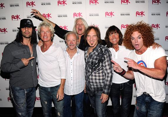 Illusionist Criss Angel and comedian Carrot Top with REO Speedwagon
