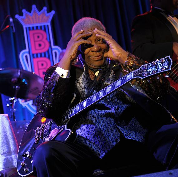 B.B. King performs at B.B. King's Blues Club