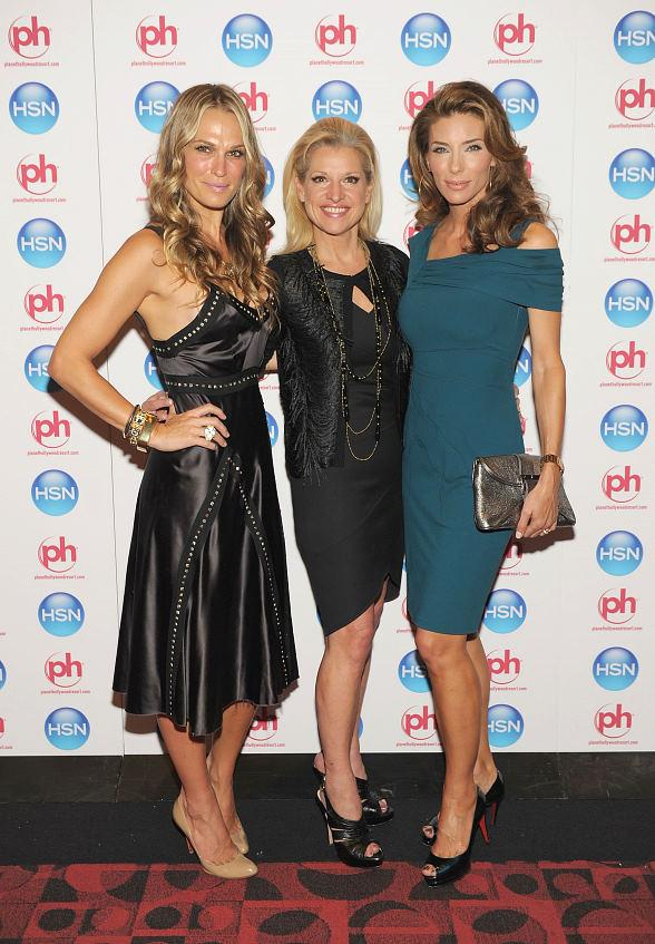 Molly Sims and Jennifer Flavin-Stallone with HSN CEO Mindy Grossman