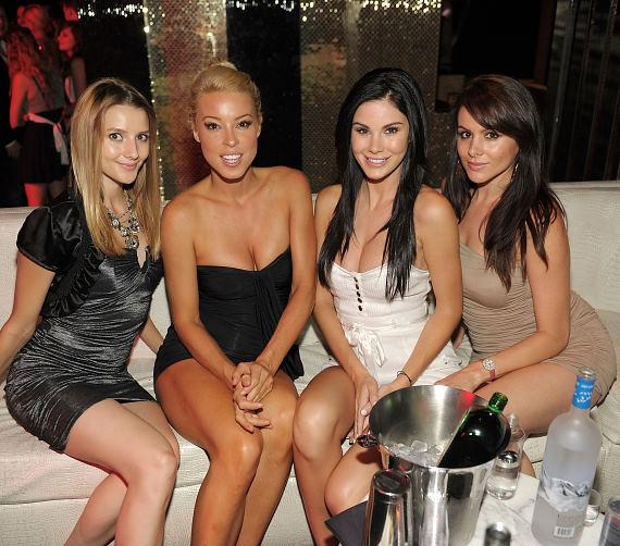Ksenia Kiseleva, Amy Lynn Grover, Jayde Nicole and Setorii Pond at Eve Nightclub