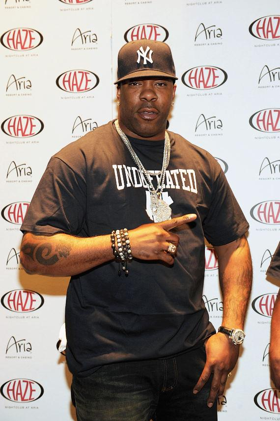Busta Rhymes arrives at Haze Nightclub