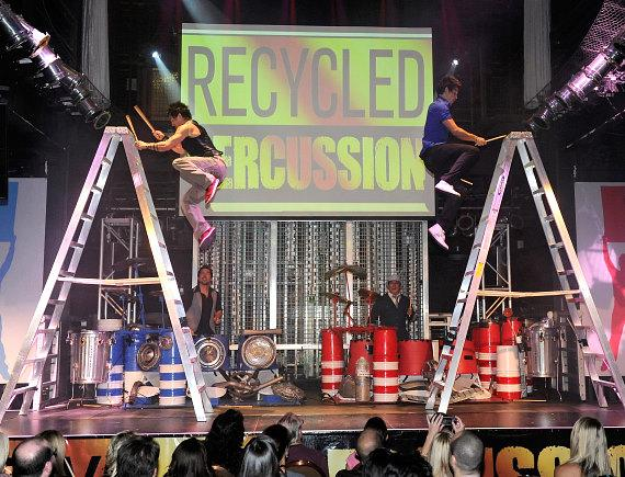 Recycled Percussion performing