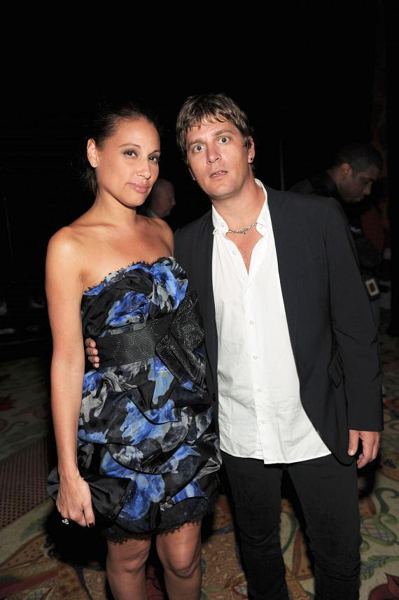 Rob Thomas (R) and wife Marisol Thomas