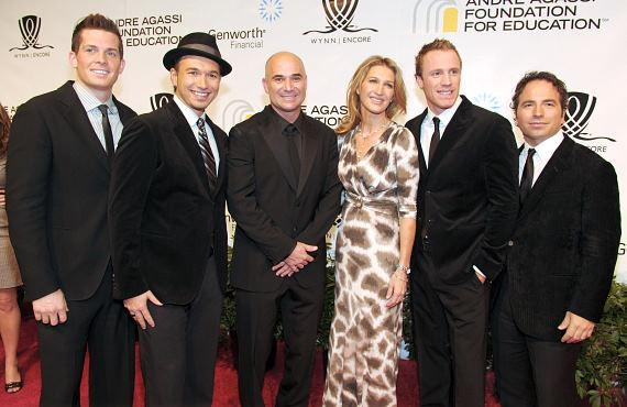 The Canadian Tenors with Andre Agassi and Steffi Graf