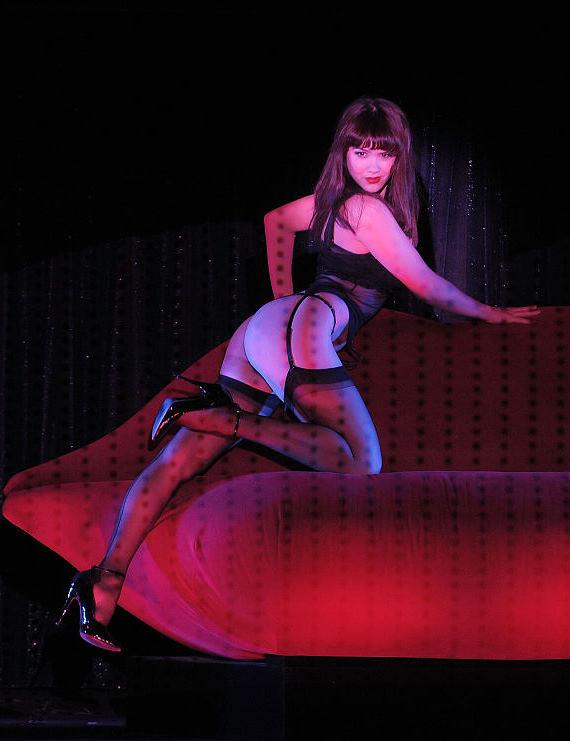 Claire Sinclaire performs at Crazy Horse Paris