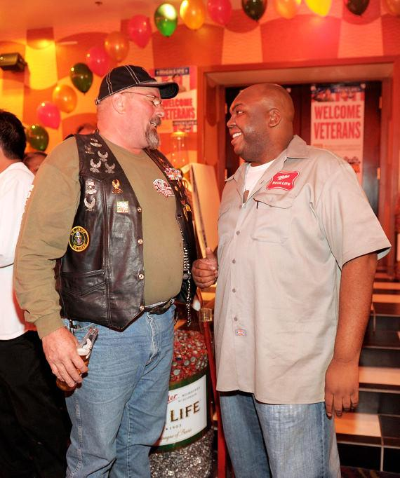 Veteran with High Life deliv­ery guy Windell Middlebrooks