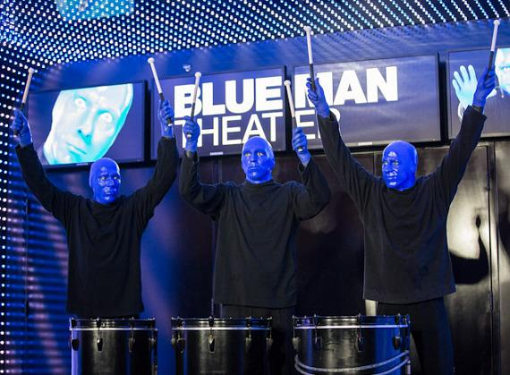Blue Man Group lands at new home with skydive arrival at Monte Carlo Resort & Casino