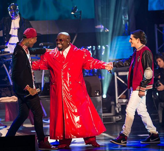 "Cee Lo Green with ""The Voice"" contestants at Planet Hollywood Resort & Casino"