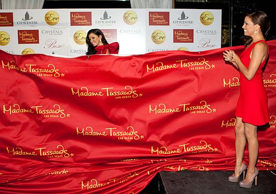 Eva Longoria Parker unveils her Madam Tussauds wax figure at Eve Nightclub in Las Vegas