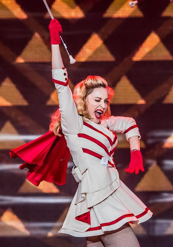 Madonna performs at the MGM Grand in Las Vegas