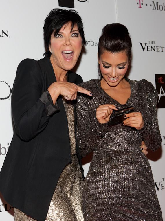 Kim Kardashian with mom Kris Jenner