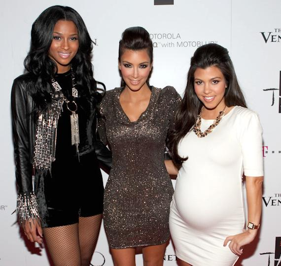 Ciara with Kim and Kourtney Kardashian