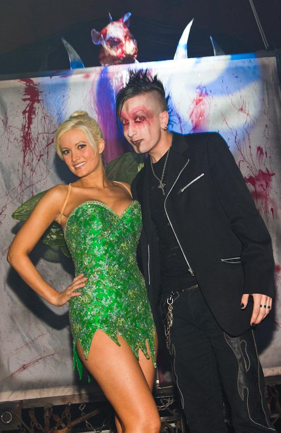 Holly Madison with Dan Sperry at Fright Dome at Circus Circus in Las Vegas