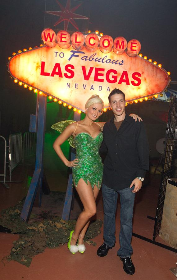 Holly Madison with Jason Egan at Fright Dome at Circus Circus in Las Vegas